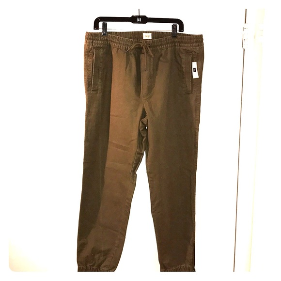 GAP Other - Men's size lg gap army green cotton denim joggers